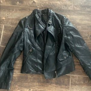 Leather jacket! Size small!